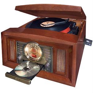 Turntable/AM/FM/CD Arlington Entertainment Center (Paprika)