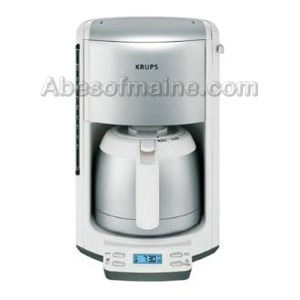 Krups Fmf5 11 Stainless Steel 10 Cup Coffee Machine White