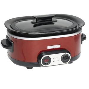 Kitchenaid KSC700GC 7 Quart Slow Cooker Gloss Cinnamon Red Free Shipping